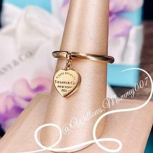 Tiffany & Co. Return to Tiffany 18k Rose Gold Heart Dangle Ring